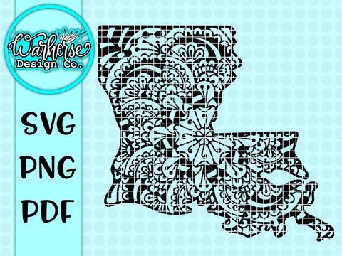 Louisiana Mandala SVG PNG PDF