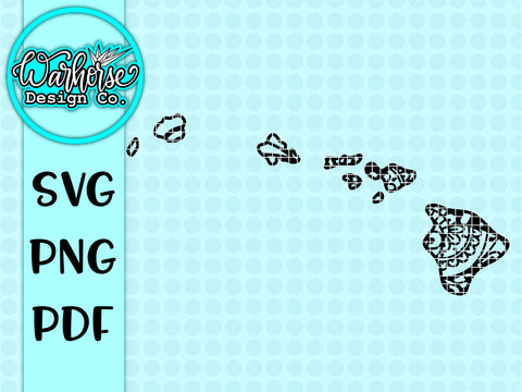 Hawaii mandala SVG PNG PDF