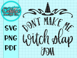 Witch slap SVG PNG PDF