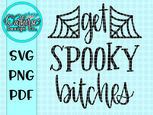 Get spooky bitches SVG PNG PDF