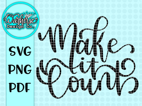 Make it count SVG PNG PDF
