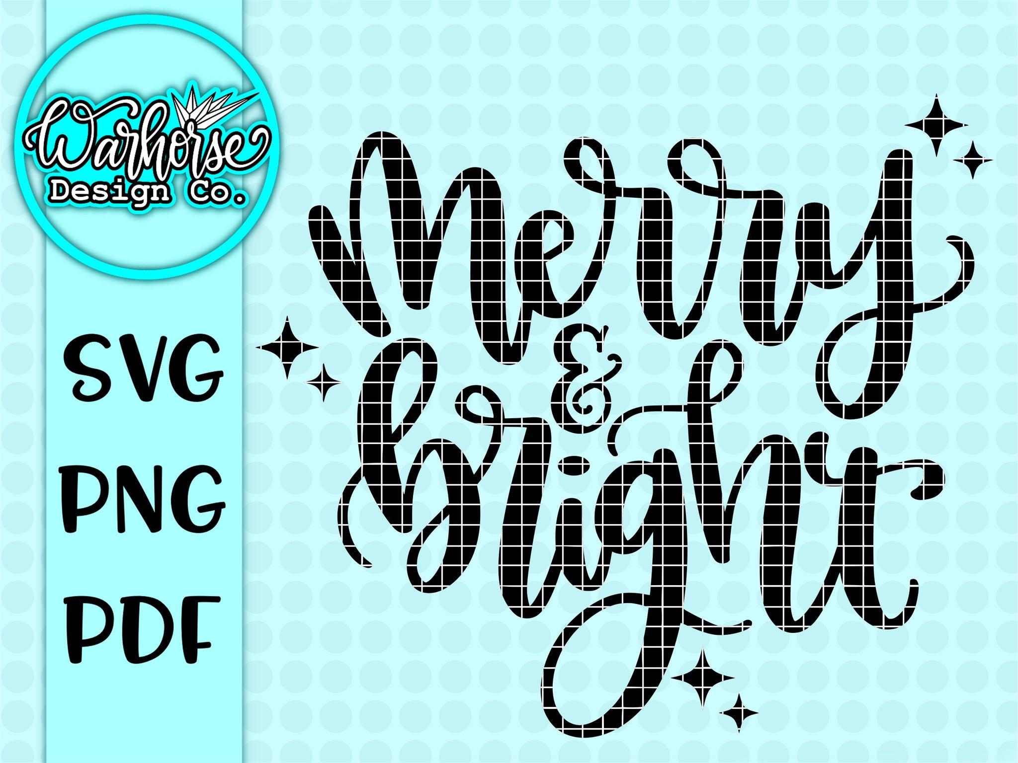 Merry and Bright SVG PNG PDF
