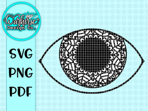 Eye mandala SVG file