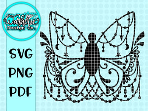 Butterfly Geometric SVG PNG PDF