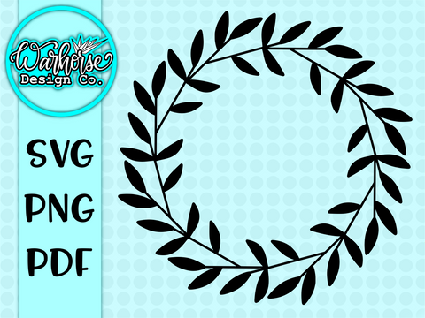 Basic Spring Wreath SVG PNG PDF