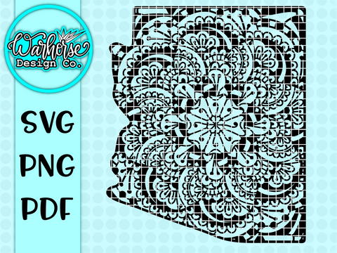 Arizona mandala SVG PNG PDF
