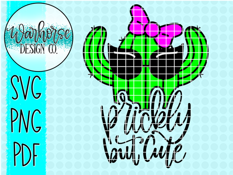 prickly but cute SVG PNG PDF