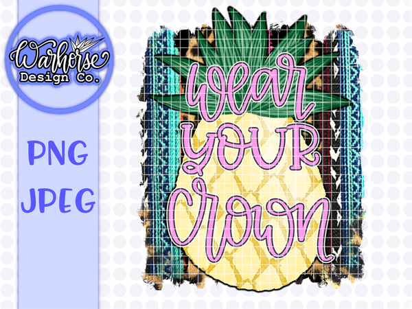 Pineapple Crown set PNG PDF JPEG