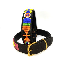 "Load image into Gallery viewer, Maasai beaded Large breed dog collars - 18-20"" (46-51cm) neck size - 3/4"" (2cm) & 1"" (3cm)widths"