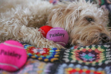 Load image into Gallery viewer, Personalised Coloured Dog Tennis Balls