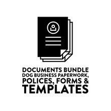 Load image into Gallery viewer, Dog Business Paperwork, Policies & Templates - digital documents bundle