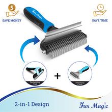 Load image into Gallery viewer, Fur Magic Deshedding and Dematting Tool, Blue