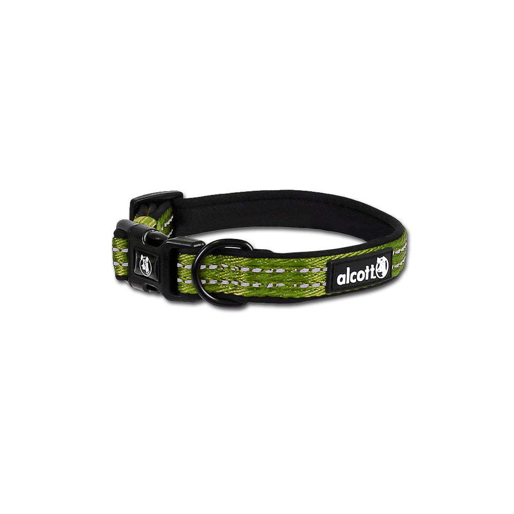 Alcott Adventure Green Neoprene Dog Collar