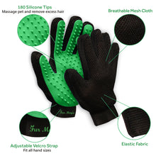 Load image into Gallery viewer, Fur Magic Pet Hair Remover Brush and Gloves, Green