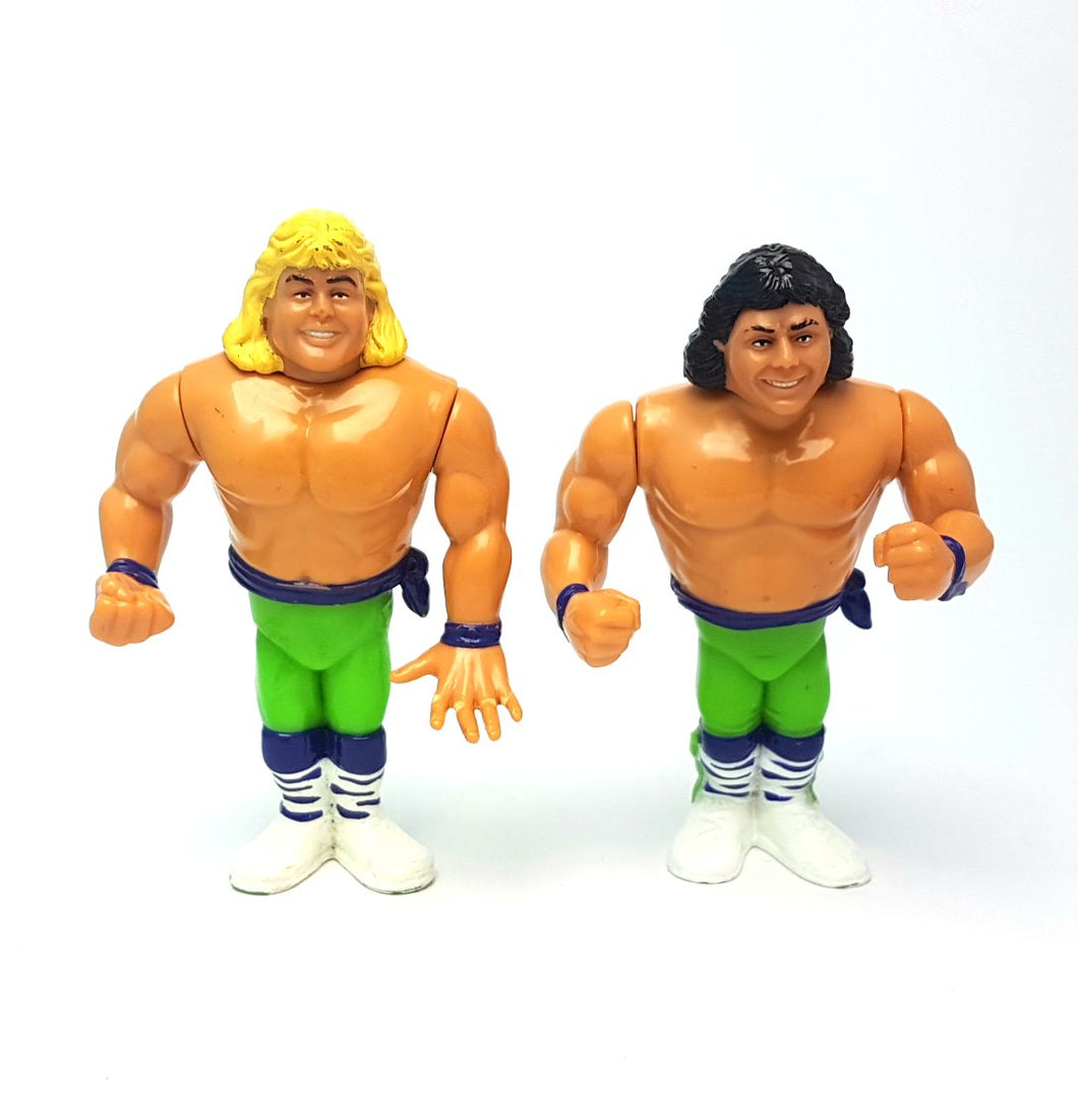 THE ROCKERS TAG TEAM WWF HASBRO Vintage Wrestling Action Figure ☆ Original 90s Loose