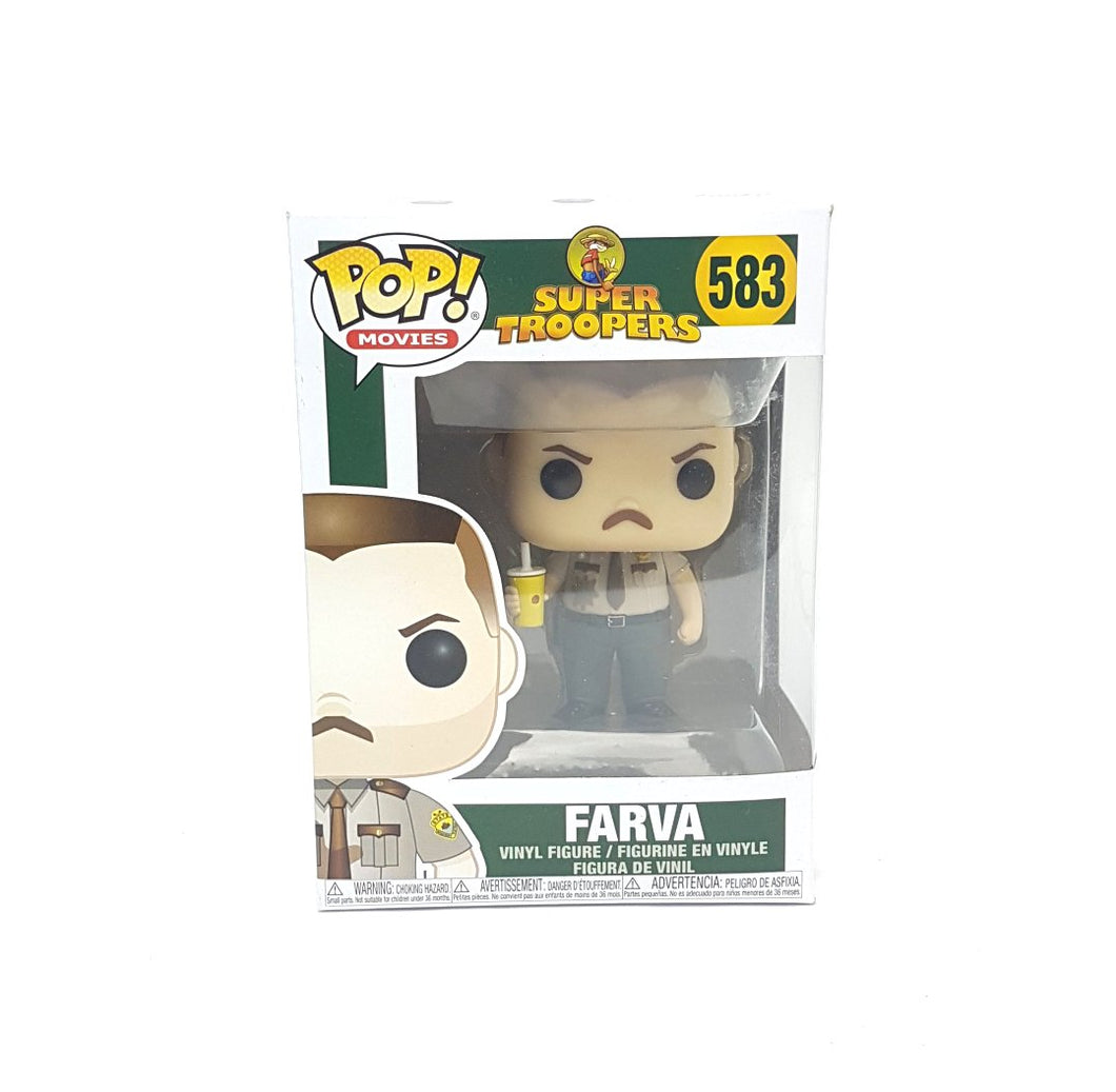 Original ☆FARVA SUPER TROOPERS # 583 FUNKO POP! Vinyl Figure ☆ Boxed