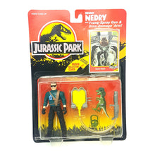 Load image into Gallery viewer, Original ☆ DENNIS NEDRY JURASSIC PARK Figure ☆ Sealed MOC World Carded