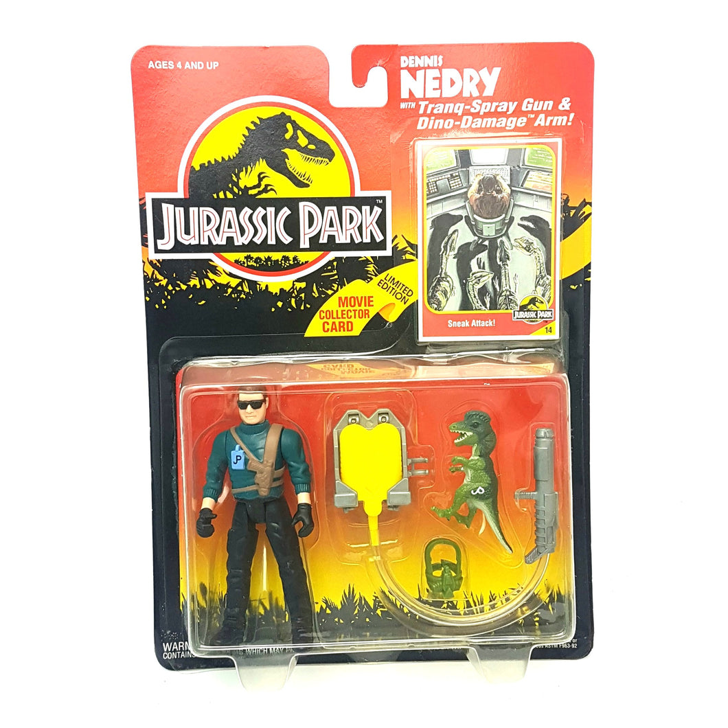 Original ☆ DENNIS NEDRY JURASSIC PARK Figure ☆ Sealed MOC World Carded