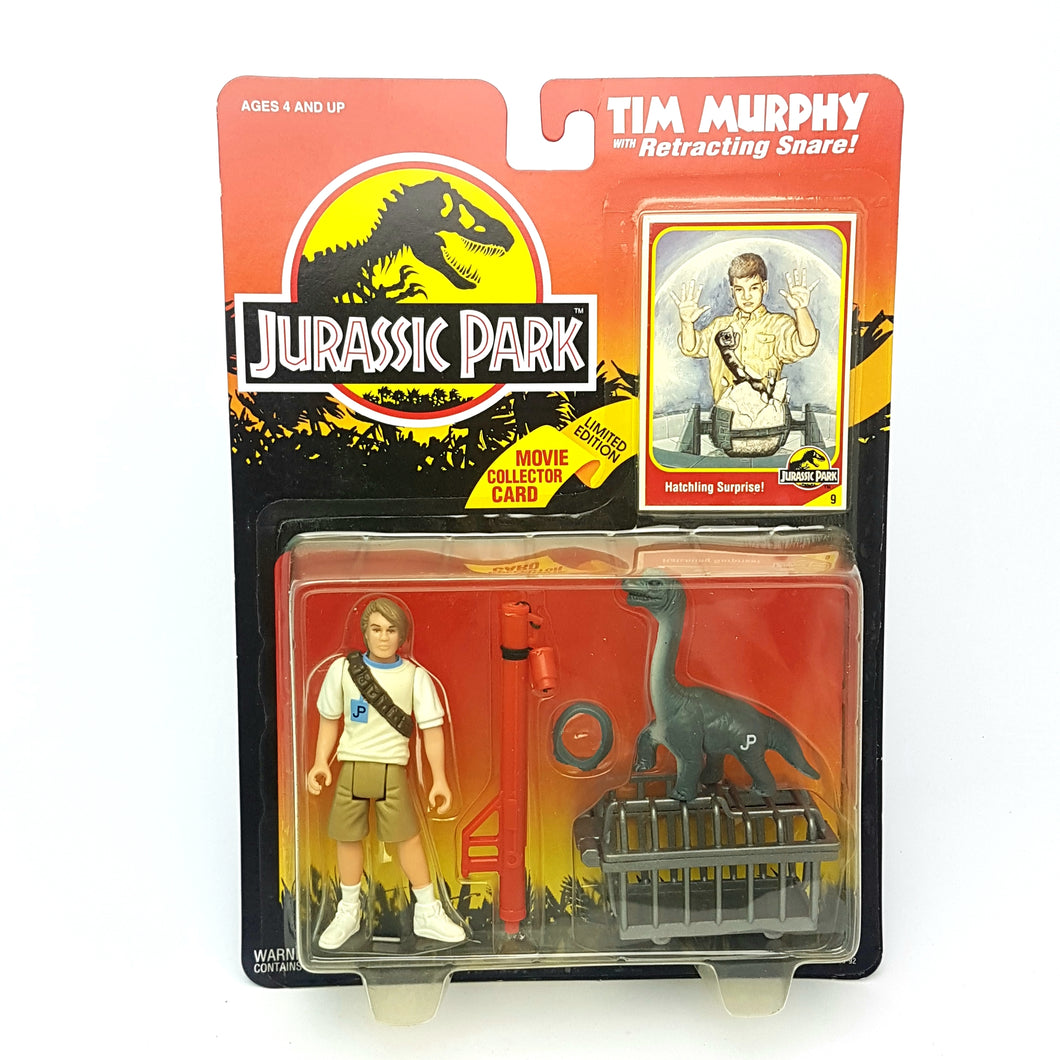 Original ☆ TIM MURPHY JURASSIC PARK Figure ☆ Sealed MOC World Carded