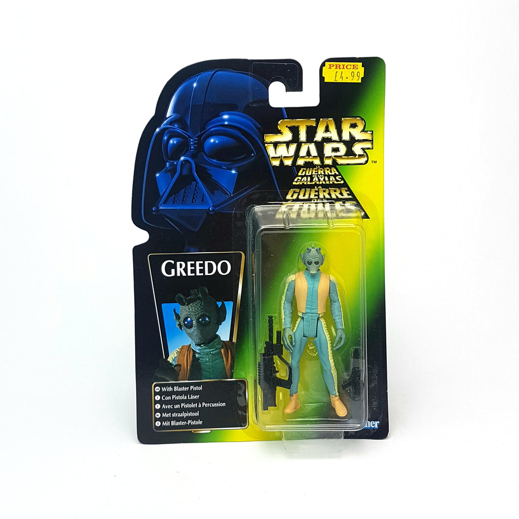 POTF ☆ GREEDO EURO CARD Star Wars Power Of The Force Figure ☆ MOC Sealed Carded