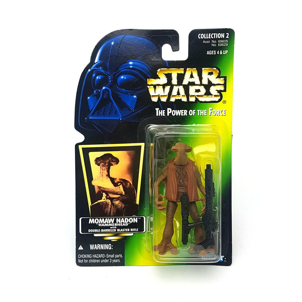 POTF ☆ MOMAW NADON HAMMERHEAD Star Wars Power Of The Force Figure ☆ MOC Sealed Carded