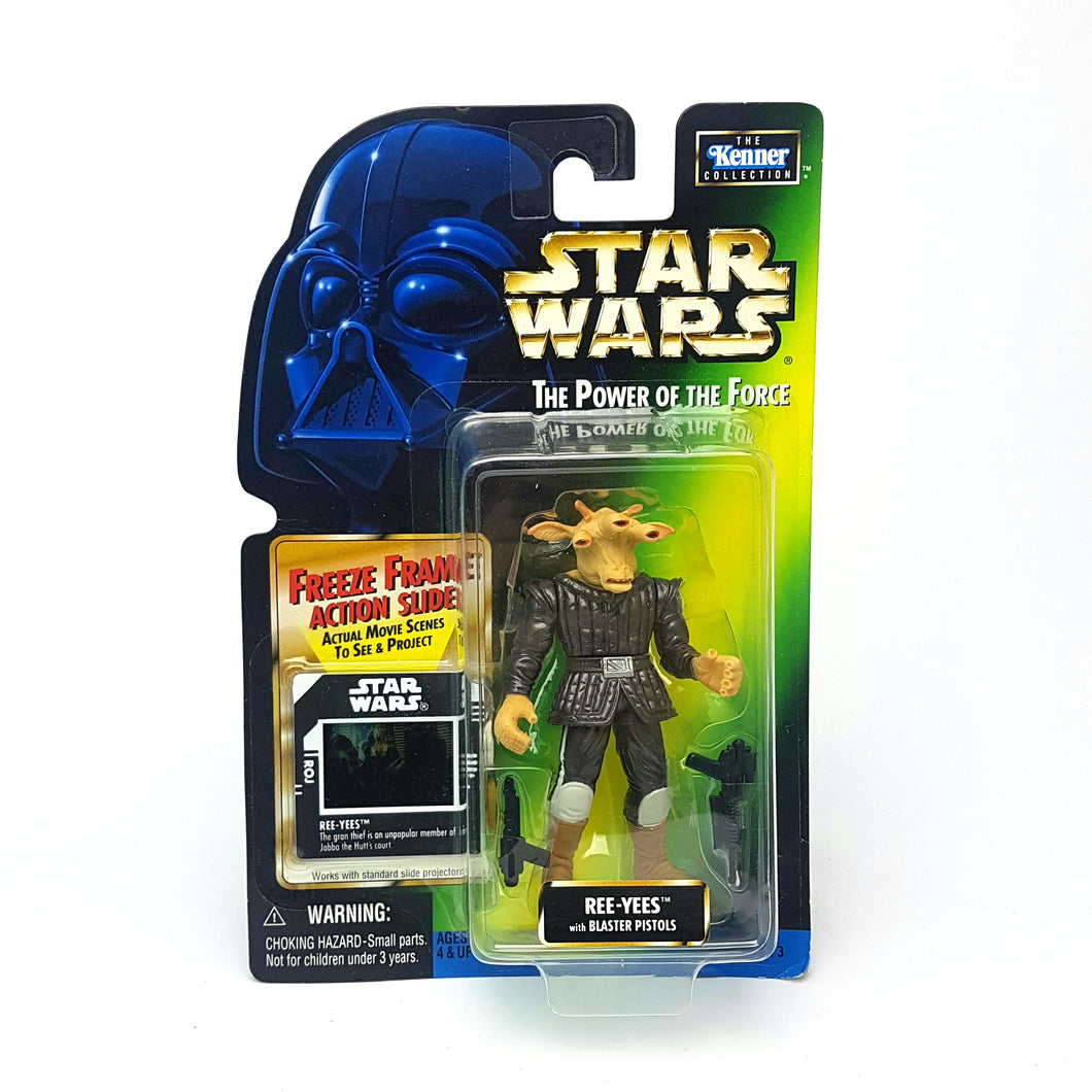 POTF ☆ REE-YEES Star Wars Power Of The Force Figure ☆ MOC FREEZE FRAME Carded Kenner
