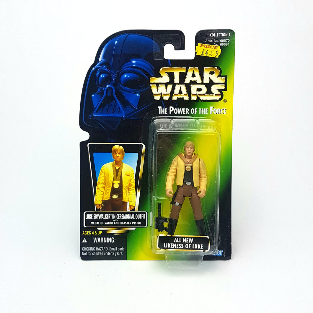 POTF ☆ LUKE SKYWALKER IN CEREMONIAL OUTFIT Star Wars Power Of The Force Figure ☆ MOC Sealed Carded