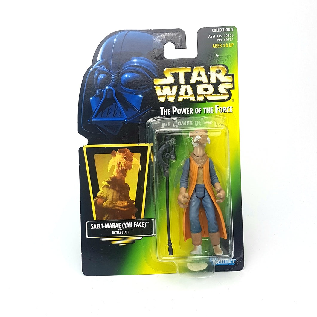 POTF ☆ SAELT-MARAE (YAK FACE) Star Wars Power Of The Force Figure ☆ MOC Sealed Carded