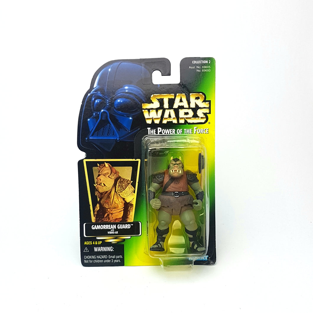 POTF ☆ GAMORREAN GUARD Star Wars Power Of The Force Figure ☆ MOC Sealed Carded