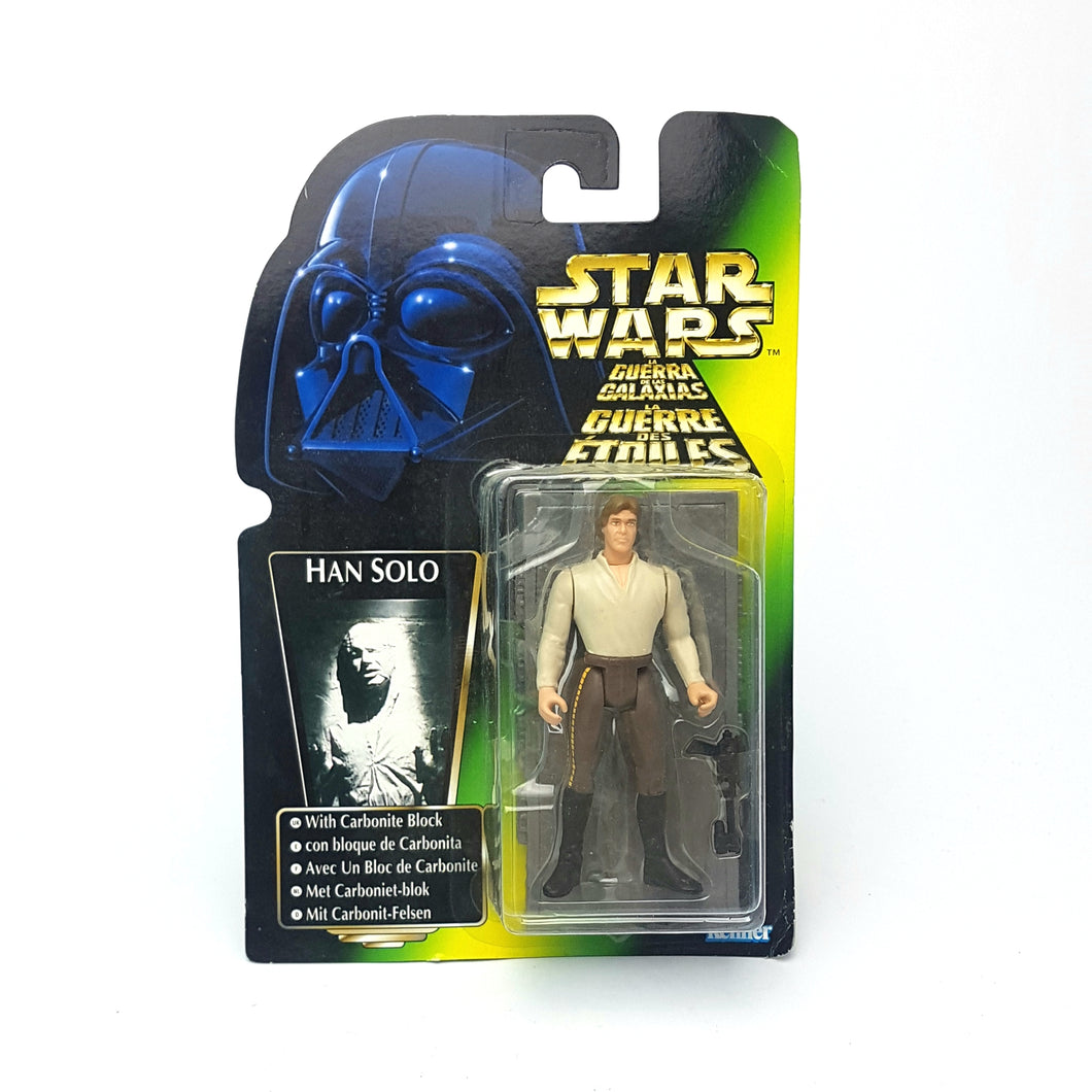 POTF ☆ HAN SOLO CARBONITE Star Wars Power Of The Force Figure ☆ MOC Sealed Carded Kenner