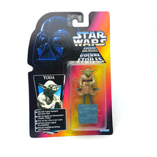 Load image into Gallery viewer, POTF ☆ YODA Star Wars Power Of The Force Figure ☆ MOC Sealed Carded RED