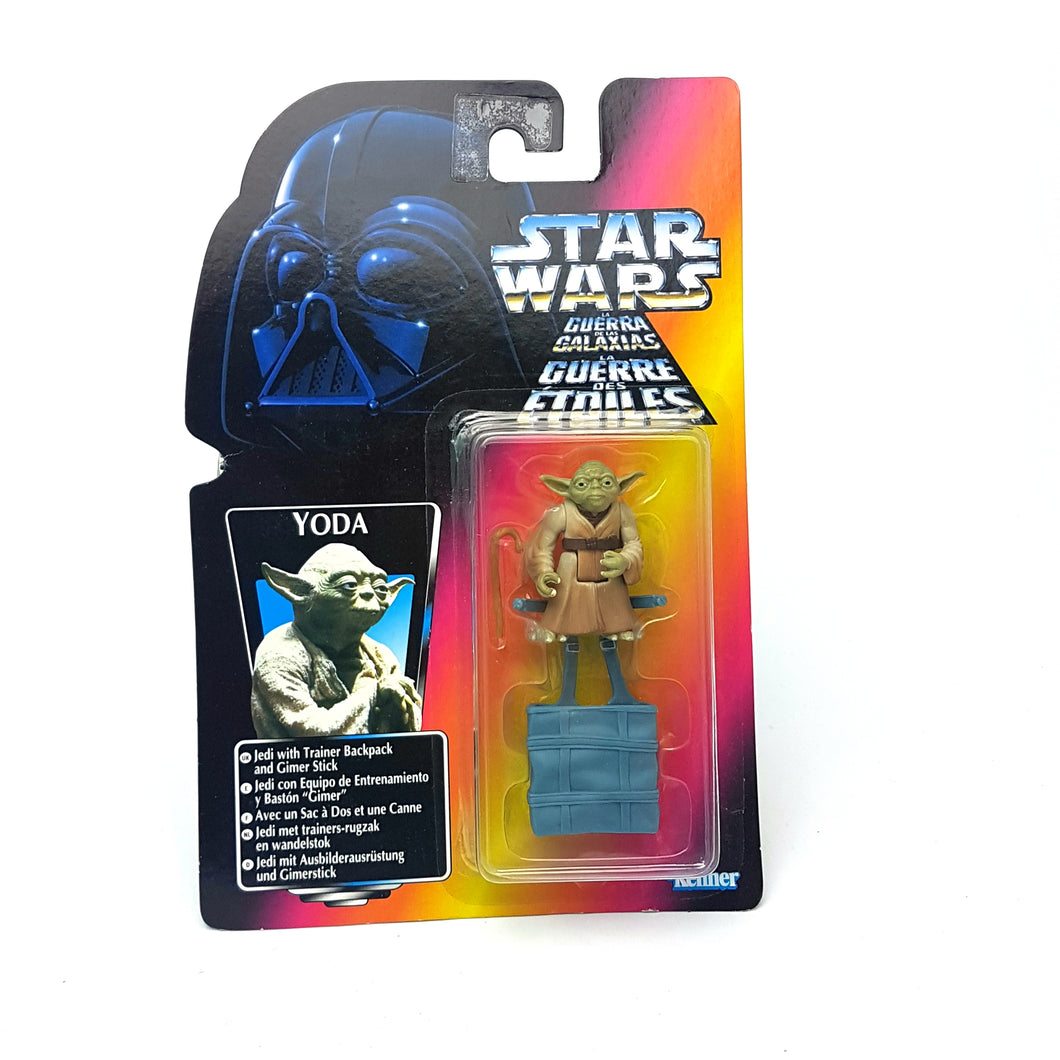 POTF ☆ YODA Star Wars Power Of The Force Figure ☆ MOC Sealed Carded RED