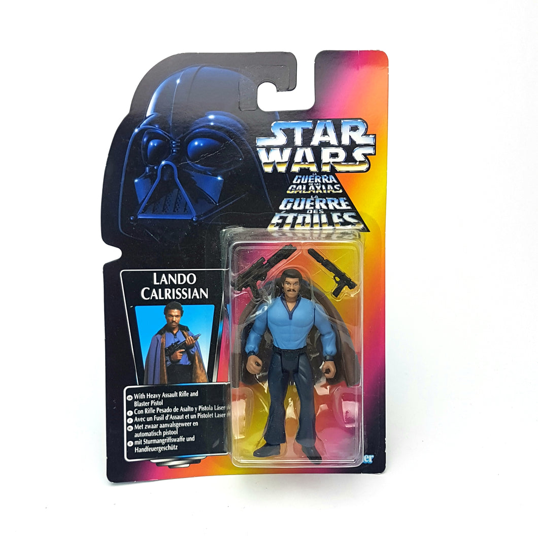 Copy of POTF ☆ LANDO CALRISSIAN EURO Star Wars Power Of The Force Figure ☆ MOC Sealed Carded RED
