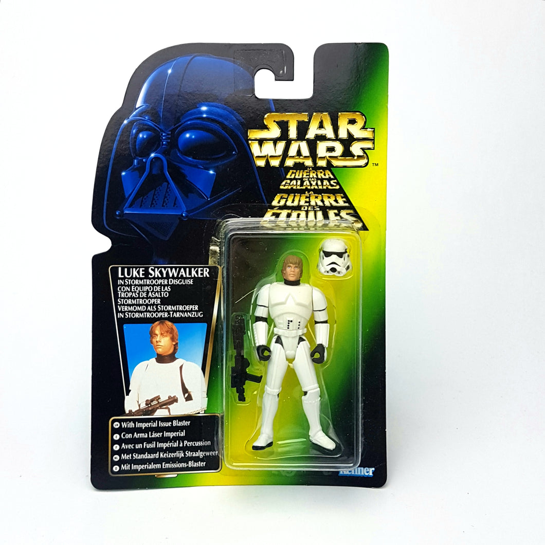 POTF ☆ LUKE SKYWALKER STORM TROOPER Star Wars Power Of The Force Figure ☆ MOC Sealed Carded