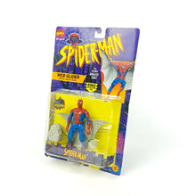 Load image into Gallery viewer, Vintage ☆ WEB GLIDER SPIDER-MAN ANIMATED SERIES MARVEL Figure ☆ MOC Sealed Carded Toybiz 90s Original