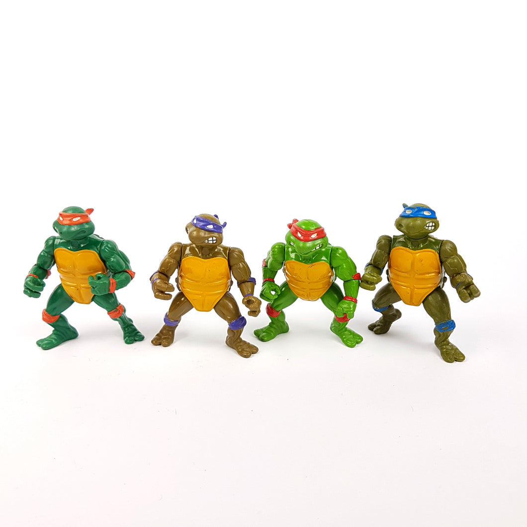 Original ☆ 4X Job lot TEENAGE MUTANT NINJA TURTLES Vintage Action Figure ☆ 90s Loose Bundle