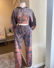 Load image into Gallery viewer, Brown Tie Dye Jogger Set
