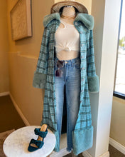 Load image into Gallery viewer, Plaid Fur Coat