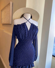 Load image into Gallery viewer, O/S Polka Dot Scrunge Dress