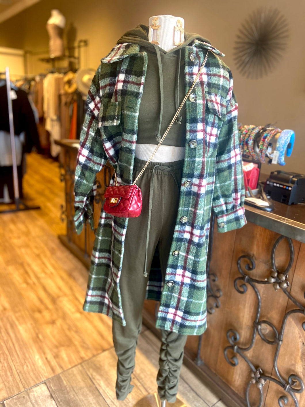 Plaid Jacket With Pockets
