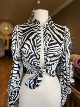 Load image into Gallery viewer, Zebra Pattern Blouse