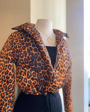 Load image into Gallery viewer, Leopard Puffer Jacket