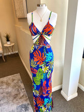 Load image into Gallery viewer, Printed Bikini Top Long Dress