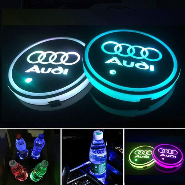 LED Cup Holders - Car Logo Edition
