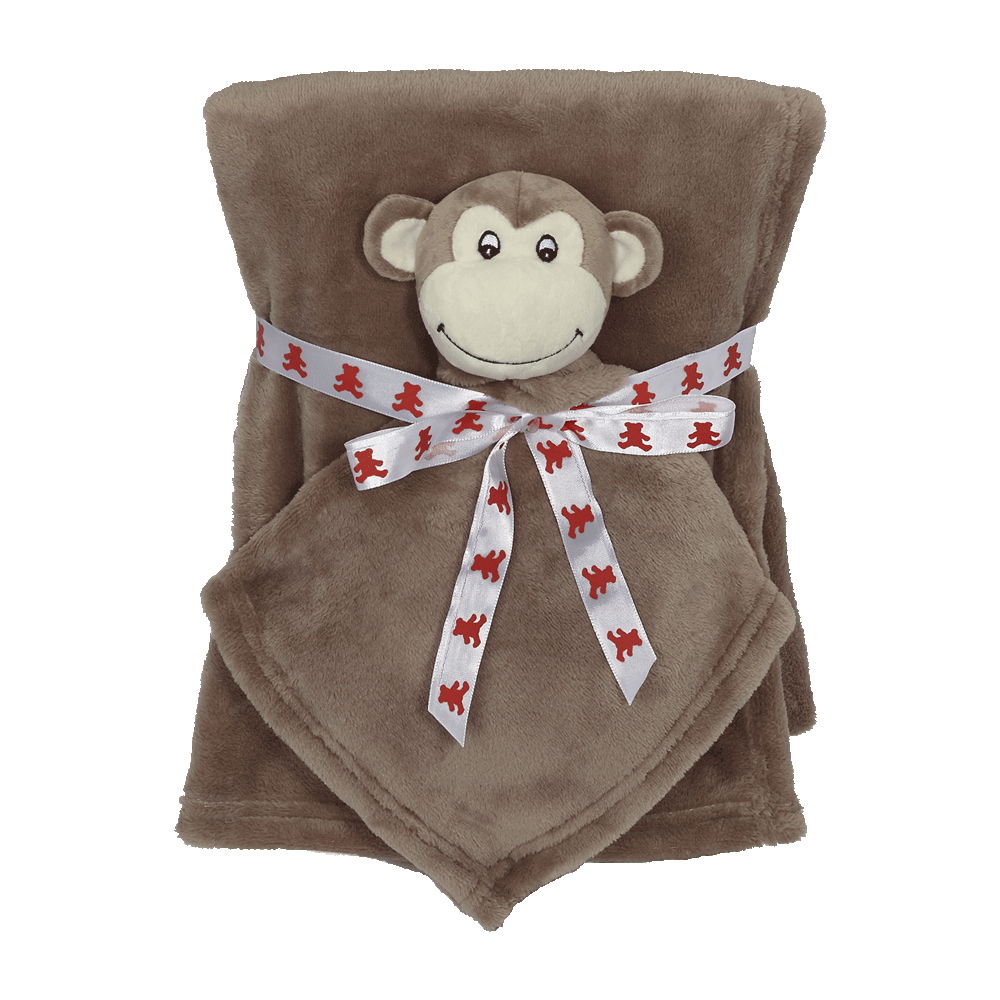Blanket Set, Blanket and Lovey Pet, Monkey