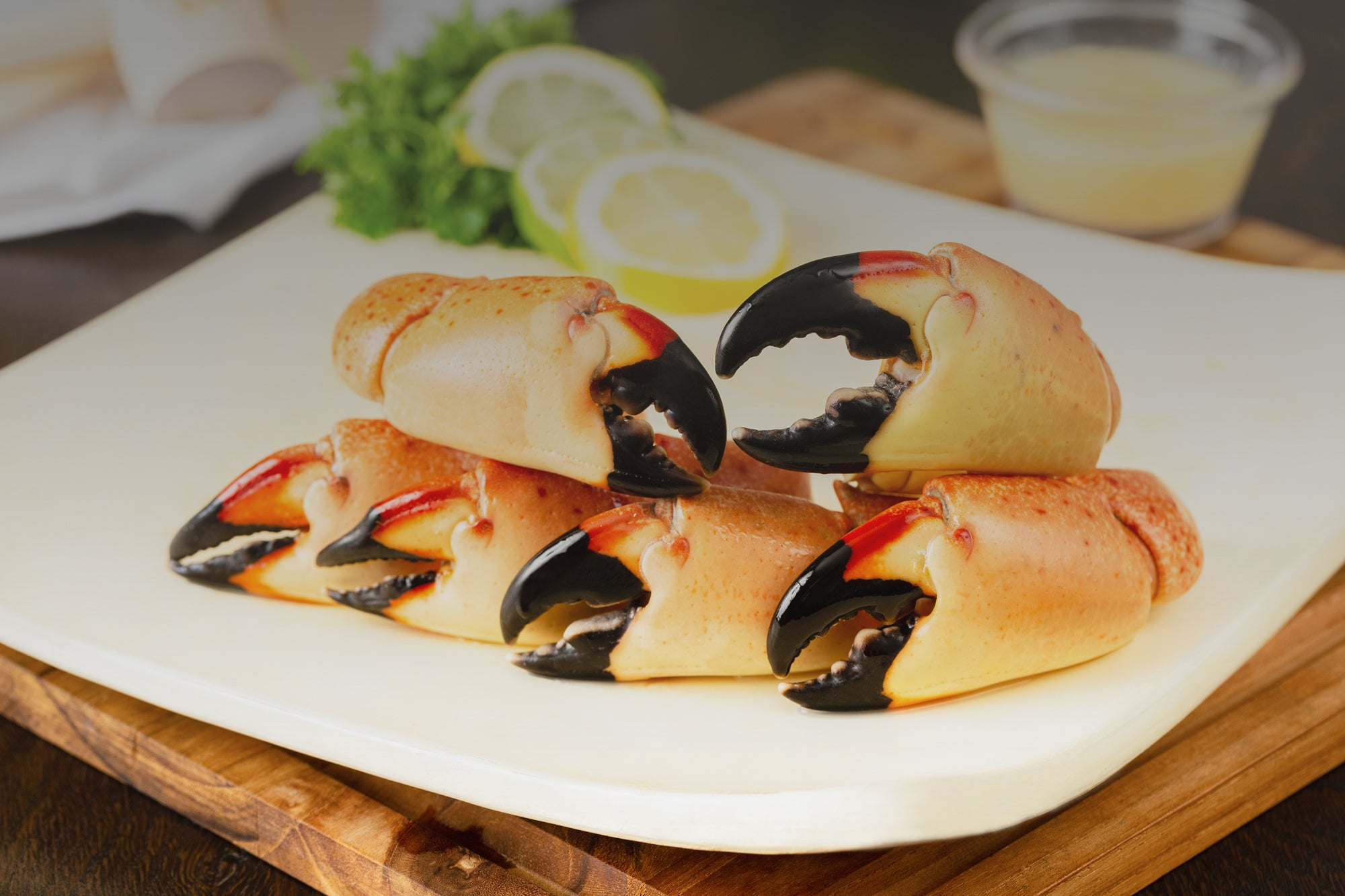 Buy Stone Crabs by the claw from Florida or order Stone Crabs Meals fresh never frozen