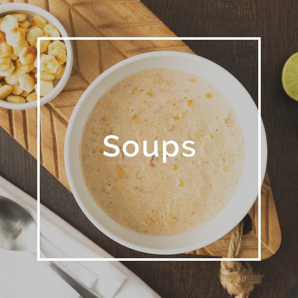 Order online gourmet seafood soup delivery in Miami, Fort Lauderdale and Palm Beach. Gourmet Crab Maryland Chowder and Gourmet Crab & Corn Chowder soups delivered right to your door.