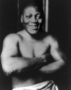 Jack Johnson, the first African-American heavyweight boxing champion
