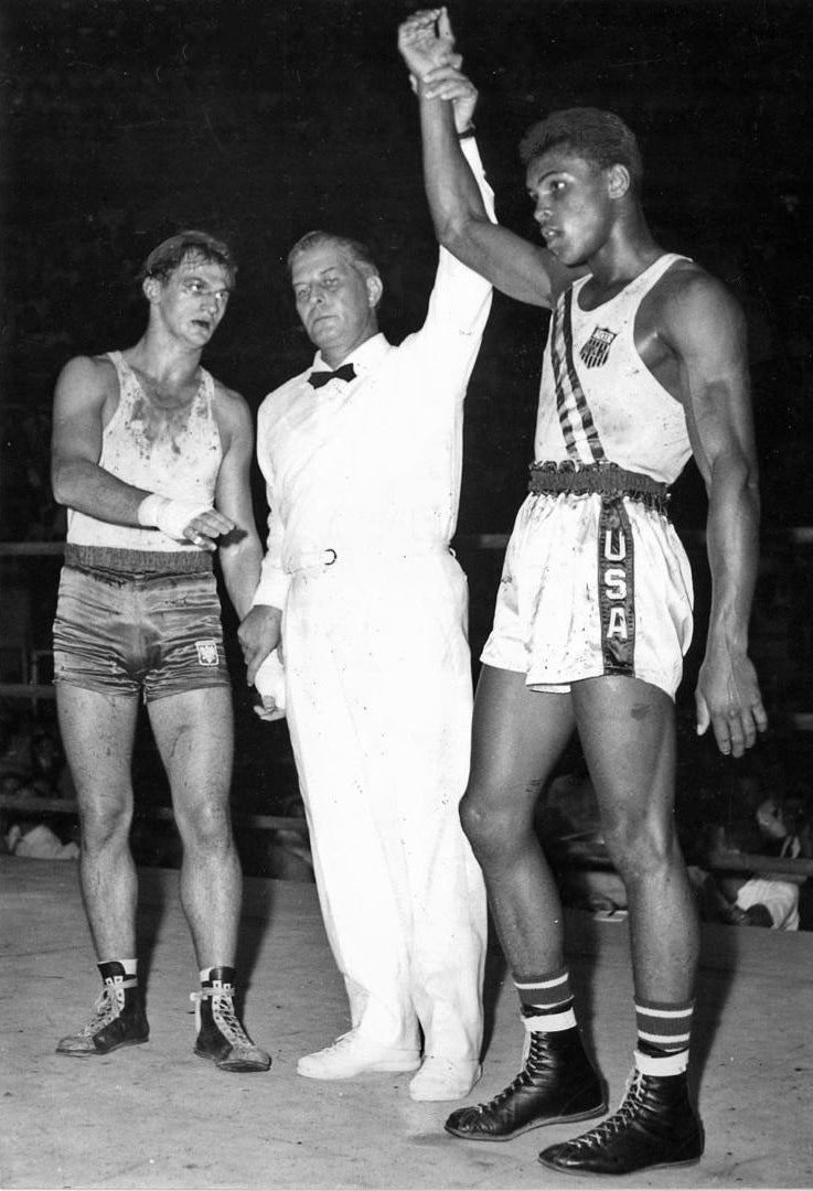 Cassius Clay wins Olympic Gold