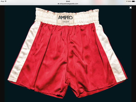 ampro boxing shorts worn by ali in his first bout against henry cooper
